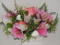 7 x wedding artificial floral table centre pieces £100