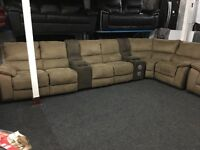 New/Ex Display LazyBoy Recliner Group Sofa + Recliner Chair + Apple Dock Media Tray (left or Right)