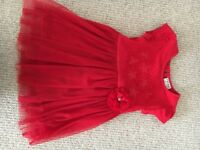 Beautiful girls red dress from Next, 18 to 24 months