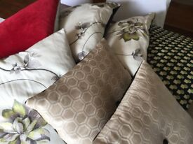Selection of hand made cushions