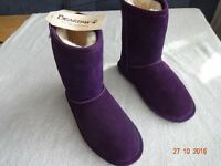 BEAR PAW NEW GIRLS DEEP PURPLE BOOTS SIZE 13