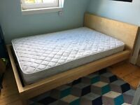 Ikea double bed frame & mattess