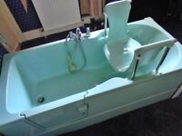 DISABILTY BATH FULL LENGTH WITH SIDE DOOR AND RAISE UP SEAT + SINK