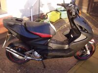 yamaha aerox mat black nearly new condition mot till next year first to c will buy