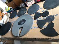 9pcs Silencer Drumming Practice Pad