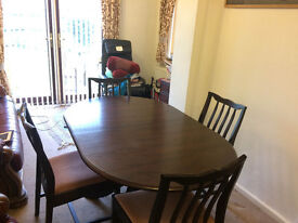 Mahogany Four Seater Dining Table