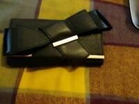 River Island black bow purse