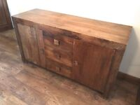 Dakota Mango Wood Sideboard Unit , From Next , Excellent Condition