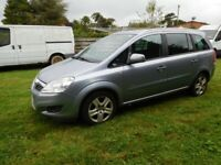 Vauxhall, ZAFIRA, MPV, 2010, Manual, 1598 (cc), 5 doors 7 Seater, NEW MOT