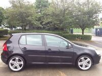 "V.W GOLF 1.4 S PETROL 5DR BLACK,HPI CLEAR,18"" R LINE ALLOY WHEELS,4 NEW TYRE,HID LIGHTS,2 KEYS,A/C"