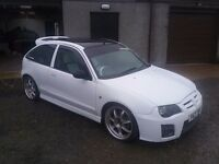 White mg zr 1.4 black carbon roof