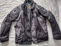 Belstaff leather and fabric motorbike jacket