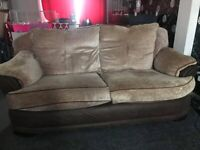 3 Seater sofa and 2 armchairs, Fair condition, FREE