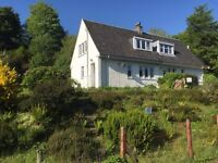2 Bed Semi Detached House with large garden on the Crinan Canal at Cairnbaan near Lochgilphead