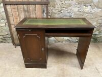 Captains Desk with Green Leather Inlay