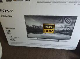 """Sony 43"""" 4K TV like new in box (43XE7002)"""