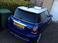 Mini Cooper S 2007 Later Shape 07 Met Blue / White Stipes and Roof