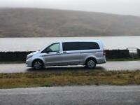 Minibus hire with driver, 8 seater, wedding cars, airport transfers