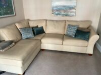 Marks & Spencer corner leather sofa and armchair