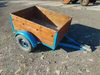 4x3 car trailer with rear lights solid floor