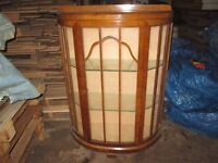 Lovely wooden and glass display cabinet, lovely condition