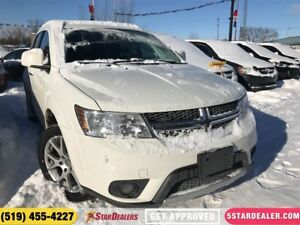 2017 Dodge Journey GT   ONE OWNER   LEATHER   AWD   7PASS   REAR
