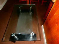 nice bevelled glass coffee table