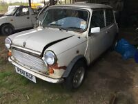 1996 rover mini mayfair mpi (barn find) requires restoration £1475