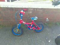 Kids Spiderman bike.