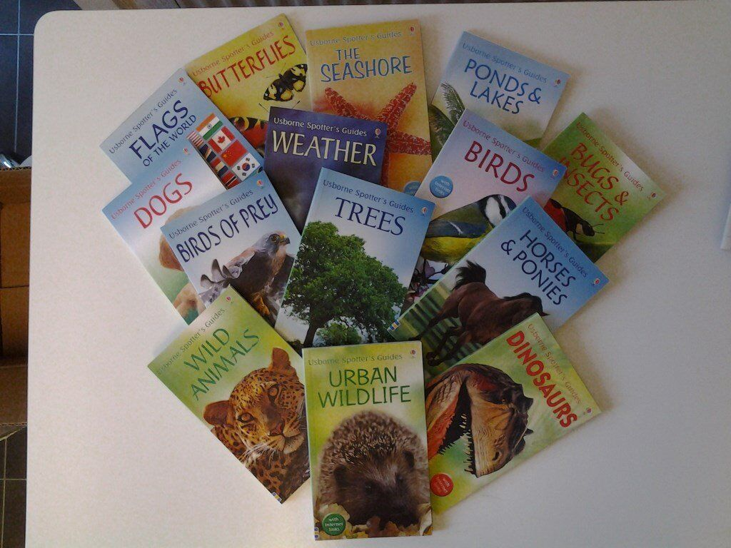 Unread Collection of 14 Usborne Spotter's Guides with Internet Links for Children – New Condition