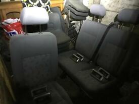T5 rear seats with isofix (quick release)