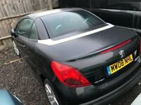 PEUGEOT 207CC CONVERTIBLE 2008REG FOR SALE SPARES OR REPAIRS