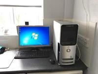 Dell Dimension 9200 dual core 4gb ram 500gb hdd 20 inch monitor windows 7 office 2016 full setup