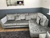 Sofa crushed velvet - corner sofa
