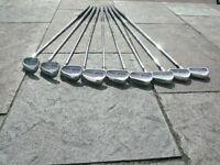 Titleist DTR Oversize Irons, Titelst Titanium 975D 9.5°, Dunlop Matris #3 & #5, putter & Wilson bag