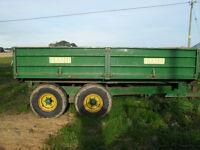 8 ton Fraser tipping trailer
