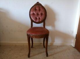 Antique Vintage Button Back Nursing Bedroom Chair