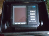 LOWRANCE BOAT SONAR FISH FINDER bracket, transducer, manual