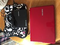 Samsung netbook NC110 with case and seperate Samsung portable DVD writer