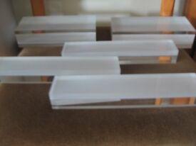 Acrylic Display Blocks x 5