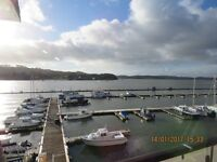 2 bedroomed flat with fantastic views and a private garage inside a secure gated complex
