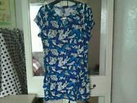 Size 14 new butterfly effect dress top