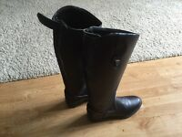 Horse riding boots. Long length size 4