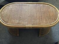 Cane coffee table for conservatory or outdoor use !