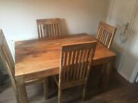 Mango Wood Dining Table & Chairs