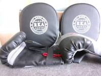 Boxing/ sparring one set gloves, one set mitts.