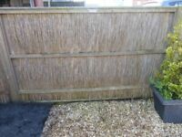 Norfolk reed fencing panels