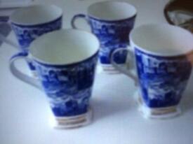 Cups mugs Rington's brand millennium x5, blue white design home kitchen accessories