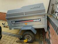 Erde 122 trailer with locking hard top