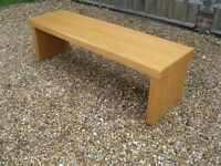 STURDY OAK BENCHES. Ideal for kitchen / computer etc. Delivery poss. LARGE MATCHING TABLE AVAILABLE